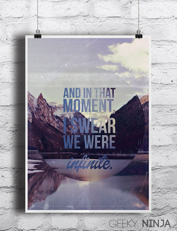The Perks of being a Wallflower Poster - Vintage style Inspirational Poster - Perks of being a Wallflower