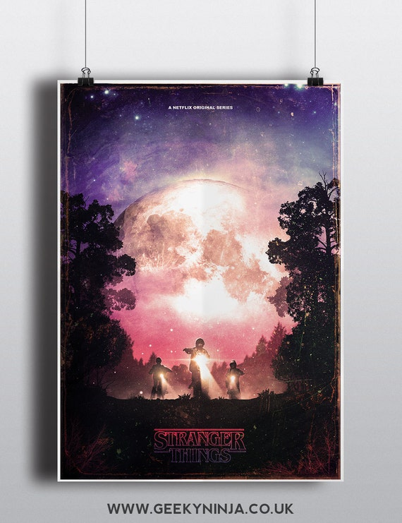 Stranger Things Inspired Poster - 80's Sci Fi movie poster