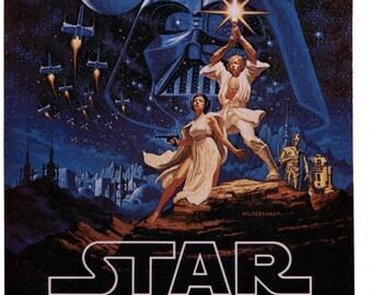 1970's Vintage Star Wars Image Custom Tee Shirt