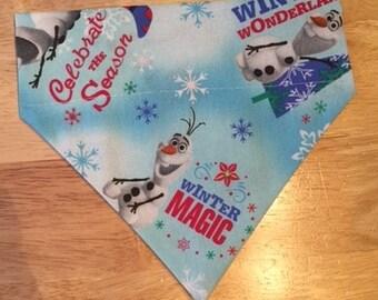 Dog Bandana Frozen Olaf Disney S/M