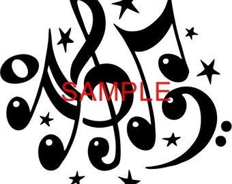 Fabric Art Quilt Block  * Musical Notes * 16-096 FREE SHIPPING