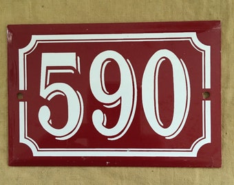 Deadstock vintage french house number
