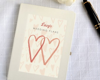 Personalised Wedding Plans Notebook (2 designs available)