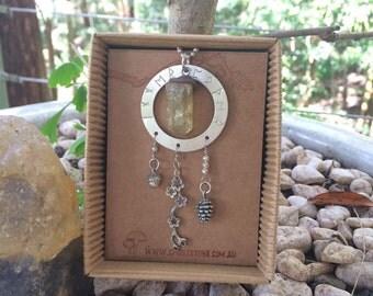 Inner Power Golden Apatite Spirit Stone Talisman