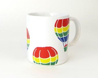 Vintage hot air balloon mug