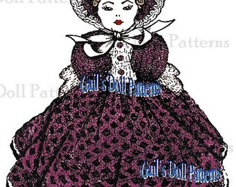 Copy of Vintage 1951 Crocheted Bed Doll Mail Order Pattern