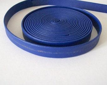 Blue faux leather strap 10mm faux leatherette 2 metres trimmings blue imitation leather
