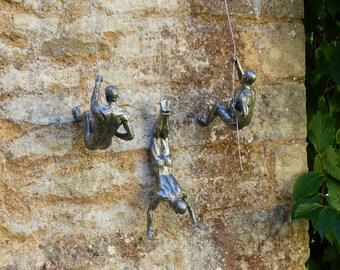 Large Climbing Men Wall Art Figurine Sculptures