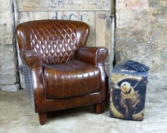 Aviator Gladiator Spitfire  Leather Chair