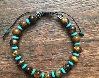 Tiger Eye Turquoise Bracelets
