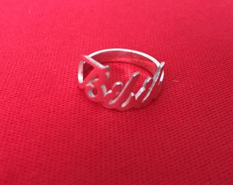 925 sterling silver personalized name Ring,custom name ring Any name available