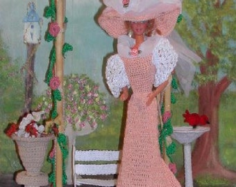 Crochet Fashion Doll Barbie Pattern- #123 TURN of CENTURY ARBOR