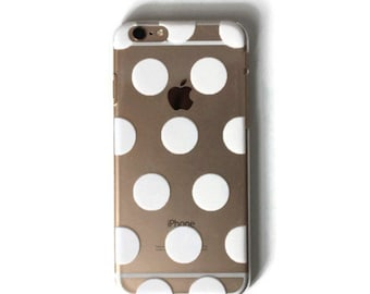 White Polka Dot iPhone 6s Case