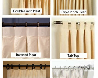 Upgrade Your Curtain Header-Euro Pleat, Double and Triple Pinch Pleat, Inverted or Pencil Pleat, or Tab Top