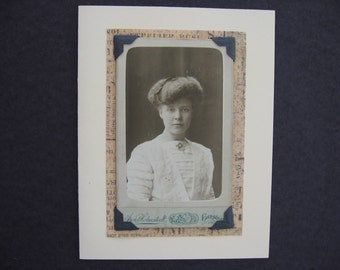 Greeting Card with Original 19th Century Studio Portrait Photo and Quotation Any Occasion Words of Wisdom