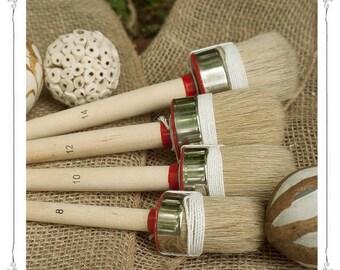 HQ Natural Bristle Wax and Chalk Paint Brush, Chalk Paint Furniture, Wax Brush, Paint Brush, Pure Bristle Round Brushes, Shabby Chic