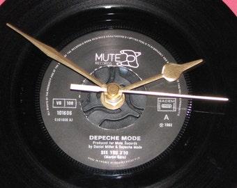 "Depeche Mode see you  7"" vinyl record clock"