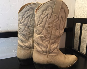 Mexican Made all Leather Boots Western Women's size 8.5