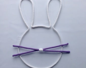 Bunny in wool - woolen shape | Wall decoration