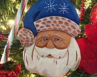 Flat Santa Ornament