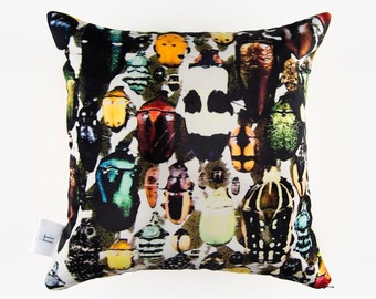 """Scarab"" Velvet pillow case/Cover - photo taken at the Insectarium"