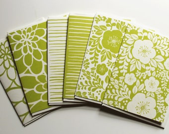 Assorted Note Cards - Lime Green
