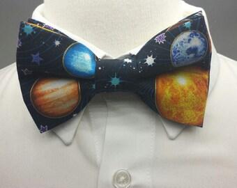 Solar System Bowtie - Solar System  - Men's Bowties - Bowties for Men - Custom Bowties - Science Bowtie