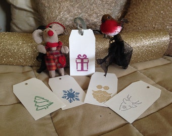 Christmas tags pack paper cutting templates - personal use