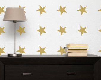 Wall Stencil -  Stars -  in reusable Mylar, repeatable pattern, choose shape size up to 10 inches. Large sheet for fast painting