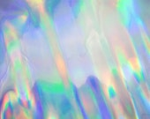 "4-sqft Silver Super-Holographic-Iridescent Effect Leather Cowhide Iridescent Metallic Holographic Leather Skin 28""x22"""