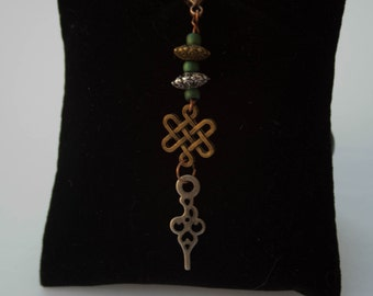 Steampunk Clockhand Charm