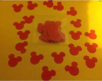 Mickey mouse confetti. Pack of 100 pieces. Perfect for Disney weddings or birthdays. Buy 2 packs and get 1 pack free.