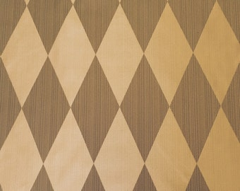 Gold on Old World Gold-Diamond - Drapery Harlequin Gold - Drapery Fabric By The Yard