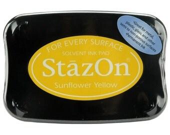 StazOn Permanent Sunflower Yellow Ink Pad (STZ003)