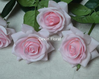 Baby Pink Real Touch Latex Roses Wedding Flowers For Silk Bridal Bouquets Wedding Centerpieces