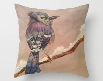 Blue Jay Pillow