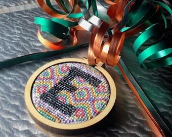 Pastel Fair Isle Mini Hoop Pattern (entire alphabet)