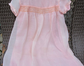 Dress - Smocked with Petticoat - Vintage