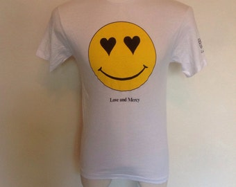 Brian Wilson original 1988 Love and Mercy Single,Promo Vintage T-Shirt