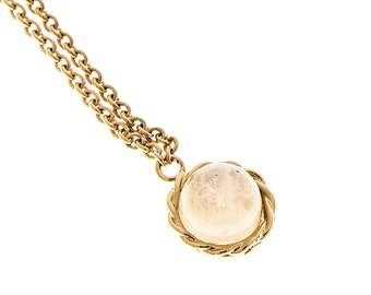 EMPIRE - gold plated necklace and fine stone
