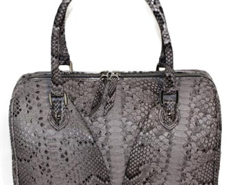 BLAIR | Ultra Luxe Sabbia Painted Python Satchel