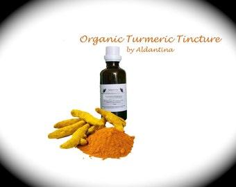 Organic Turmeric Herbal Tincture/Extract - alcohol free - >50ml<