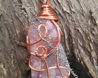 Purple Quartz Cluster Pendant