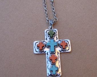 Crosses on Cross Necklace