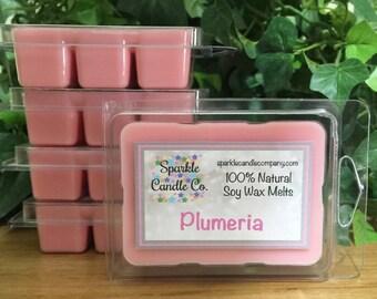 Soy Wax Melts - PLUMERIA  Scented Wax Melts - 100% Natural Soy - Floral - Frangipani - Wax Tarts