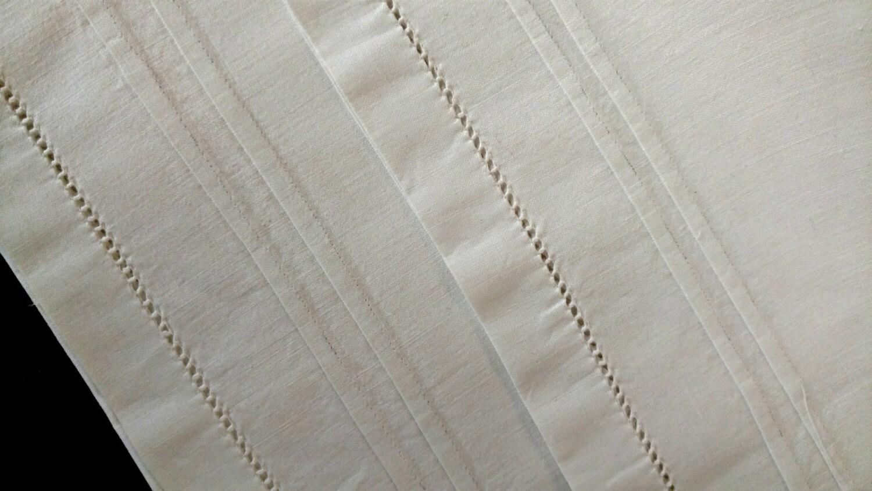 Victorian Bolster Pillows : Vintage Victorian Linen Bolster Pillow Case Sham Open Ends Hem