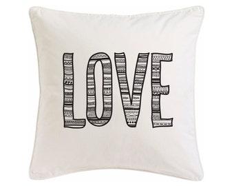 Pillow LOVE 50x50cm-Silkscreen printed