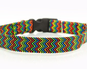 Dog's Collar, Navy Chevron, High Quality, Exceptional Gift, Unique dog accessories, Handmade