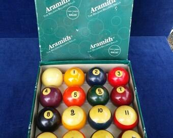 Aramith 2.25 inch billiard balls made in Belgium