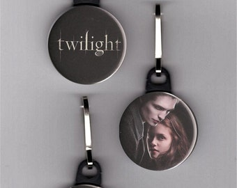 """Twilight Set of 3 - 1"""" Zipper Pulls Button Edward Cullen Bella Zipper Charm"""